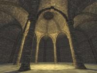 circular castle 3d model