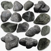 generic rocks pack 3d obj