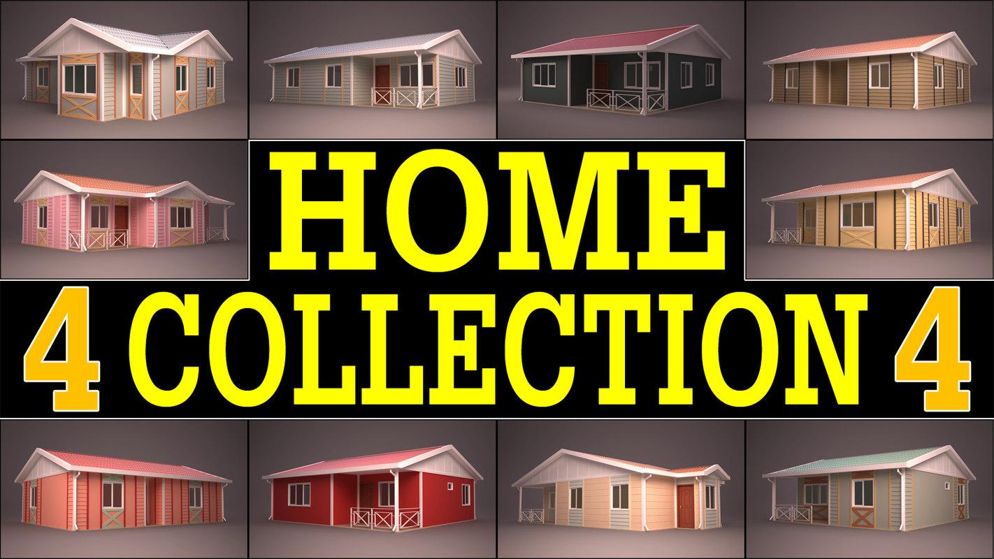 3d model house homes 4