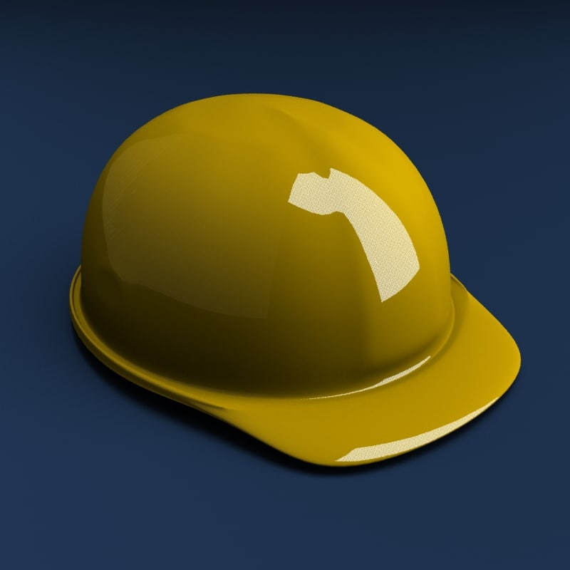 3d hard helmet model