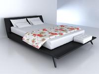 3d model of kenzo city bed