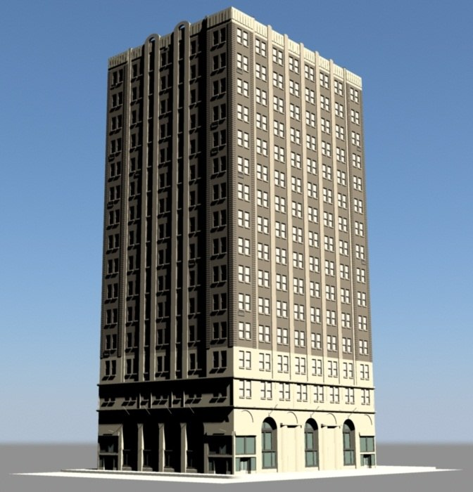 3ds generic new york building