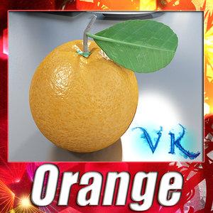 orange resolution 3d model
