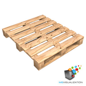 max realistic wooden pallet