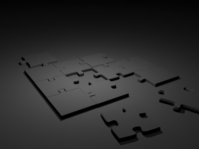 puzzle pieces 3d obj