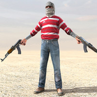 rebel ak47 arab 3d 3ds