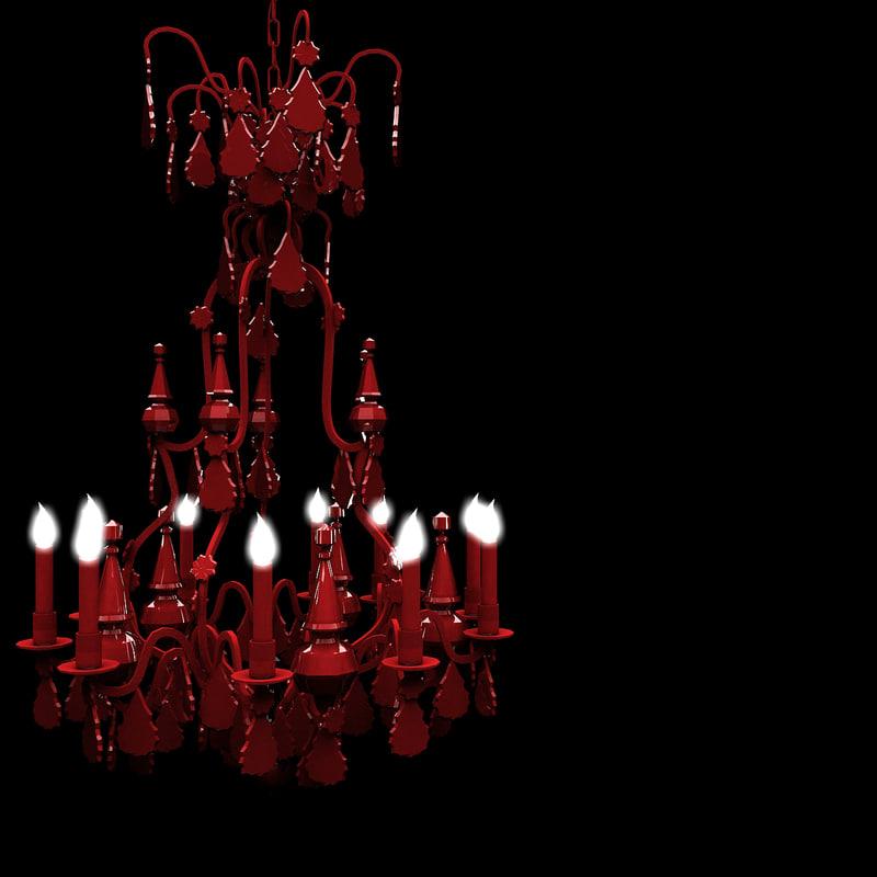 Model modern red chandelier lights 3d model modern red chandelier lights aloadofball Images