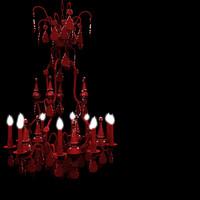 3d model modern red chandelier lights
