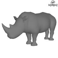 Low Poly Rhinoceros