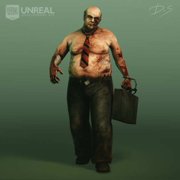 3d model zombie character games