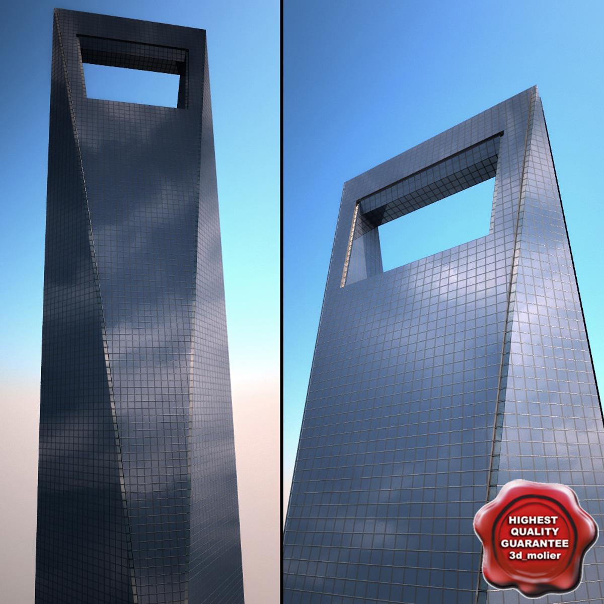 shanghai world financial center 3ds