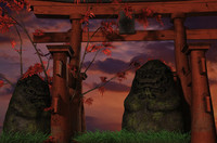 3d obj japanese shrine