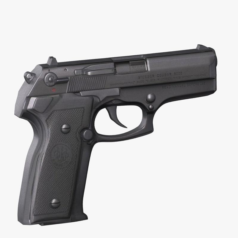 3d handgun beretta cougar 8000 model