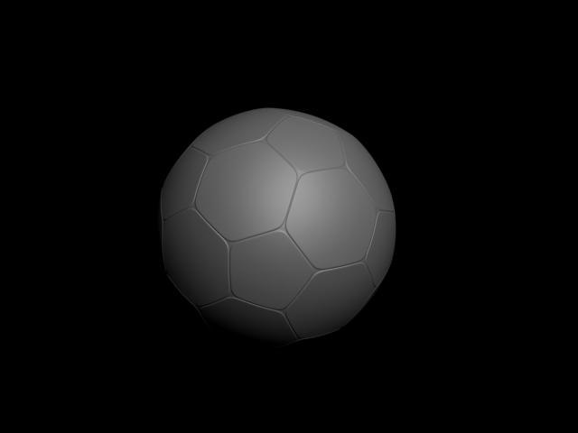 3d model plain soccer ball