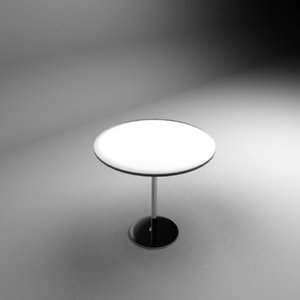table nikel leg 3d model