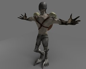 3d character polys creature