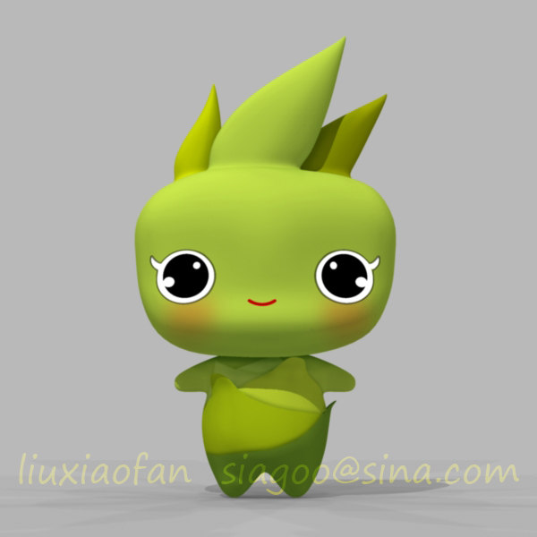 baby bamboo 3d max