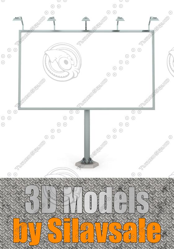 road billboard 3d model