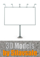 road billboard 3d model