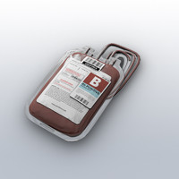 3d model blood bag