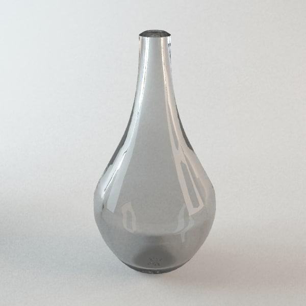 3d glass bottle