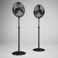3ds max floor standing fan 01