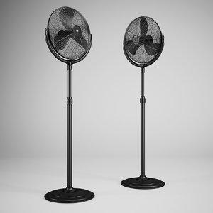 3ds max floor standing fan 01