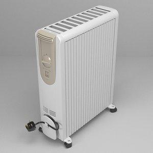 portable heater 3d obj