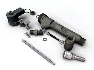 bosch common rail injector 3d max