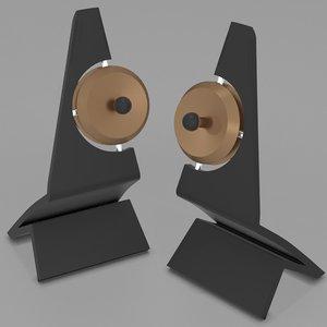 3d model klang speakers