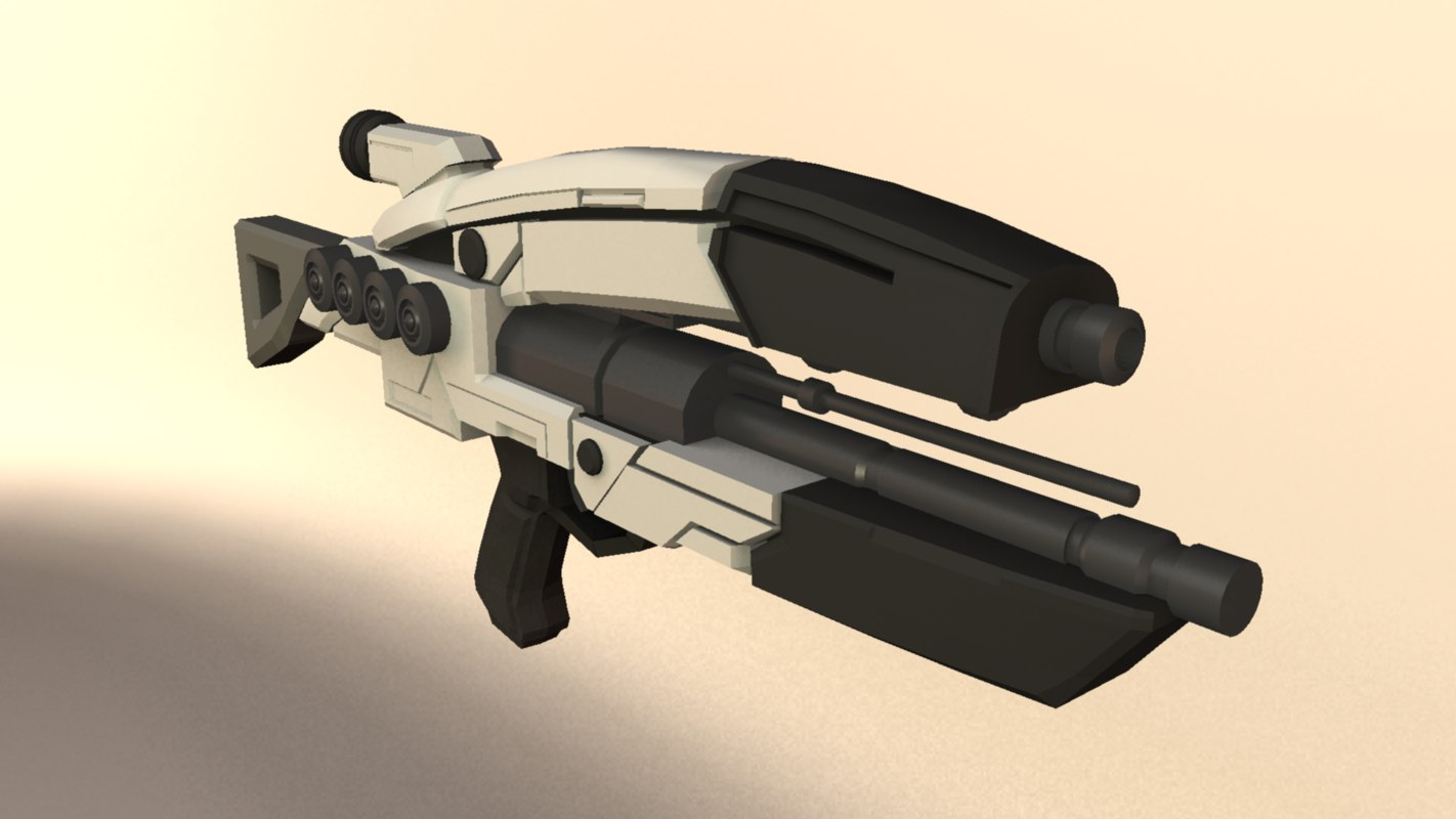 m8 avenger assault rifle 3d obj
