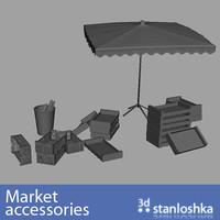 market s s 3d obj
