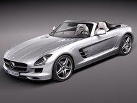mercedes-benz sls 2012 luxury 3ds