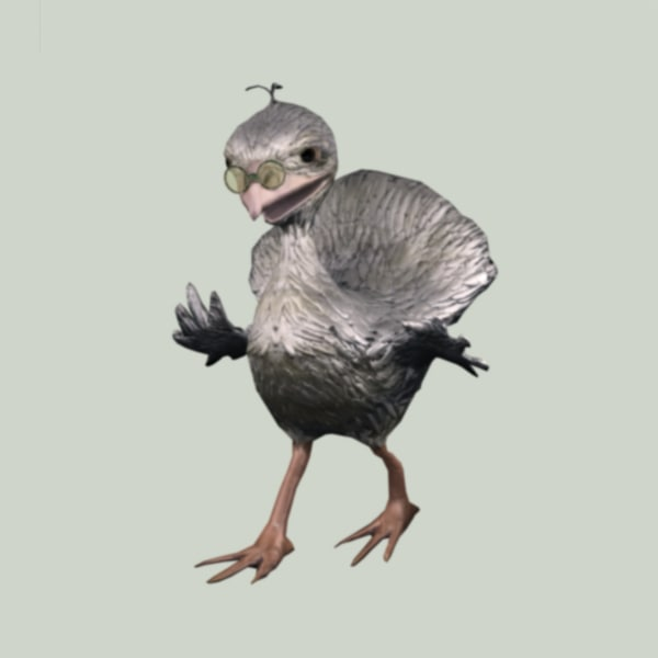 3d old bird animation
