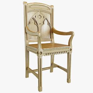 bishop pine armchair 3d model
