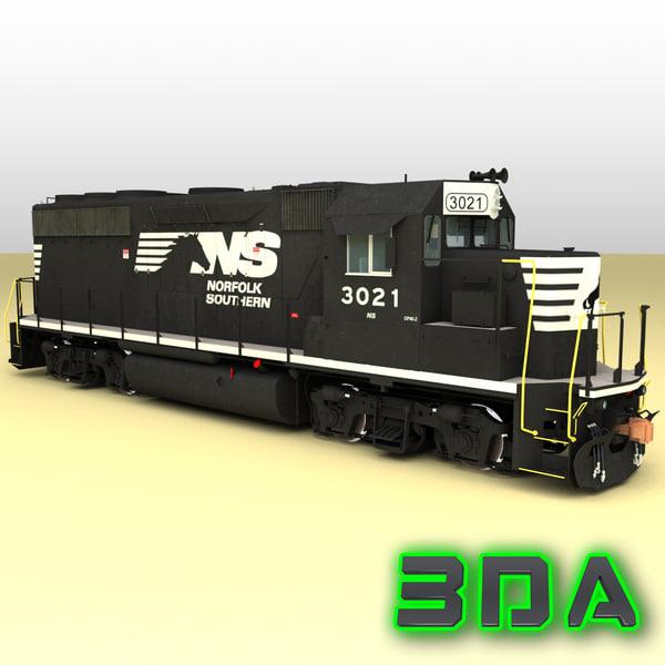 max emd gp40-2 railroad engines