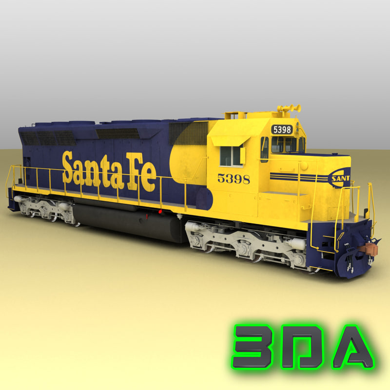 emd sd45 engines sf 3d max