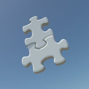 repeating puzzle pieces 3d model