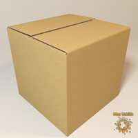 Photorealistic Cardboard Box and High resolution texture