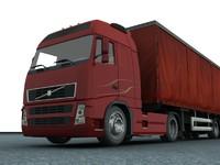 new truck trailer 3d model