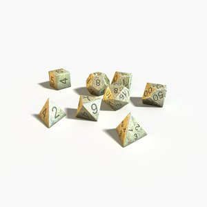 3d role playing dices model