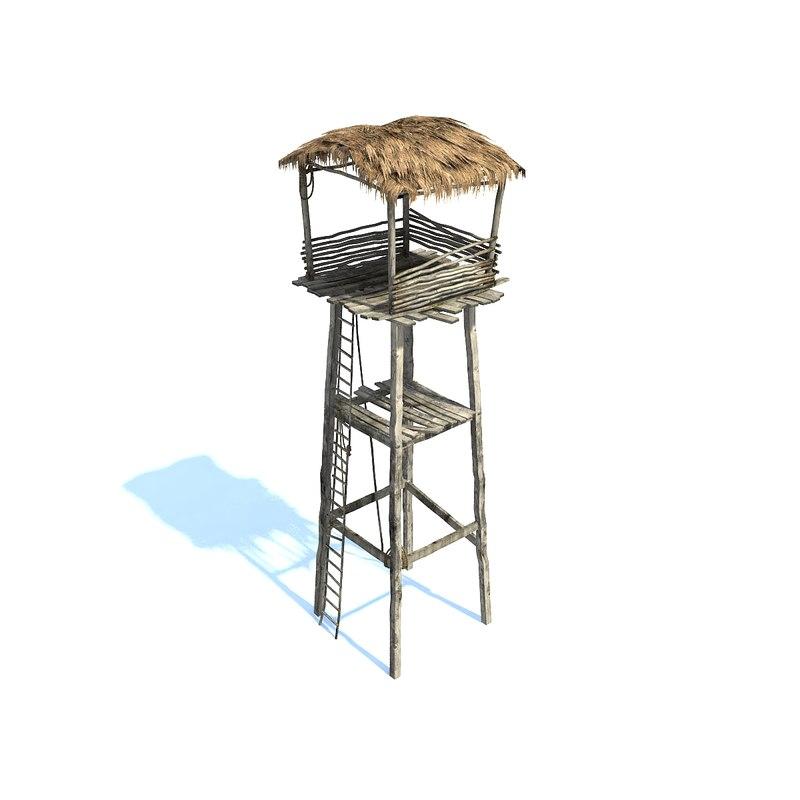 3ds max watchtower straw