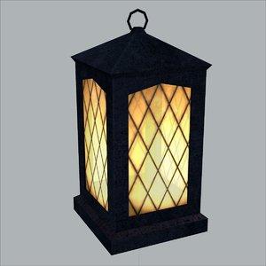 3ds max lantern light