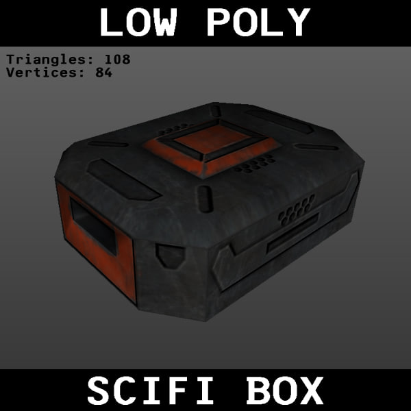 free scifi box crate 3d model