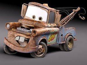 3d tow mater car model