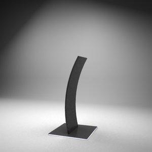 modern speach stand 3d max