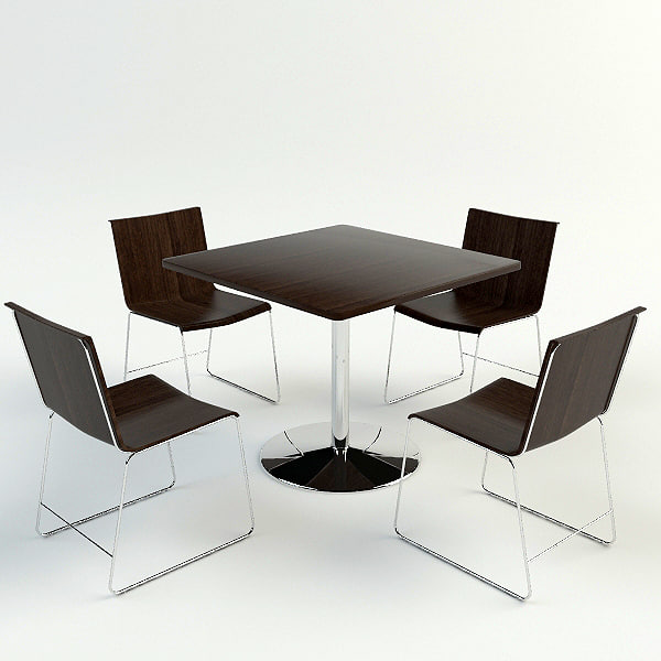 table chairs materials 3d max