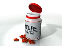 pills bottle 3d model