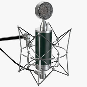 retro microphone 3d x