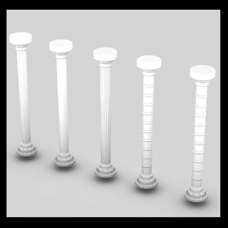 3d model metal column